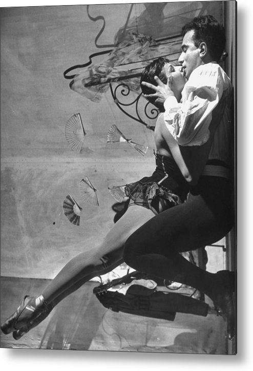 Zizi Jeanmaire Metal Print featuring the photograph Renee Jeanmaireroland Petit by Gordon Parks