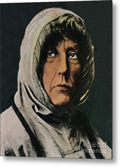 Art Metal Print featuring the drawing Roald Amundsen 1872-1928 by Print Collector