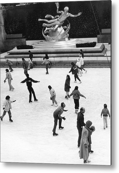 1980-1989 Metal Print featuring the photograph Rockefeller Center by The New York Historical Society