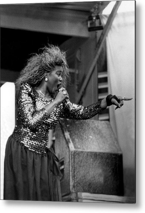 Singer Metal Print featuring the photograph Shirley Murdock Live In Chicago by Raymond Boyd