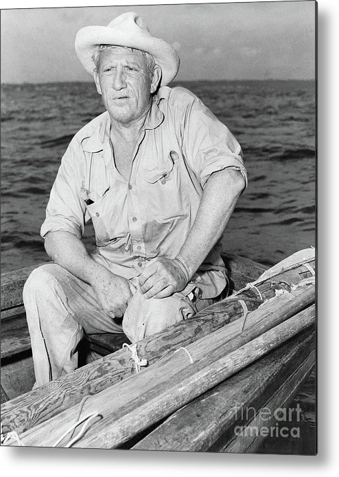 Three Quarter Length Metal Print featuring the photograph Spencer Tracy In A Scene From The Old by Bettmann