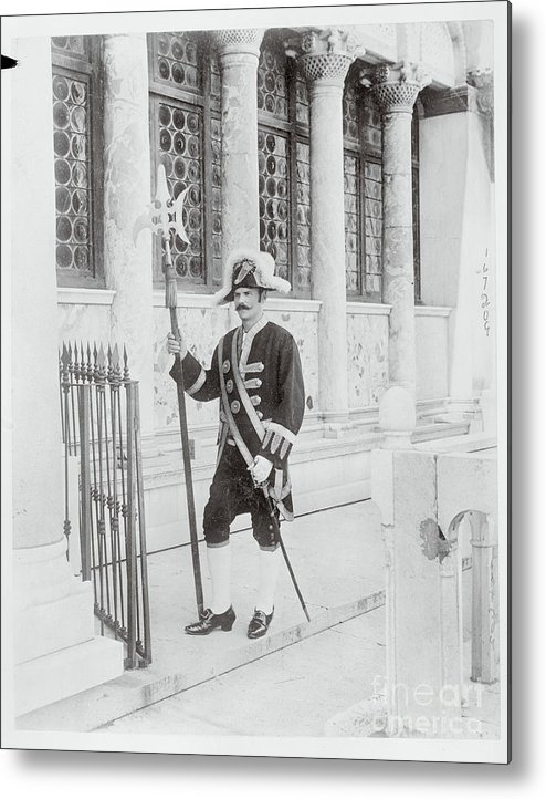 People Metal Print featuring the photograph Swiss Guard At St. Marco Church by Bettmann