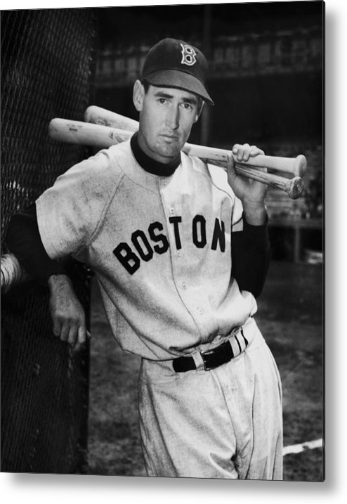Ted Williams - Baseball Player Metal Print featuring the photograph Ted Williams by Fpg