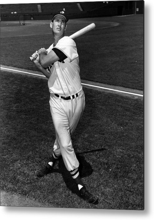 People Metal Print featuring the photograph Ted Williams by Hulton Archive