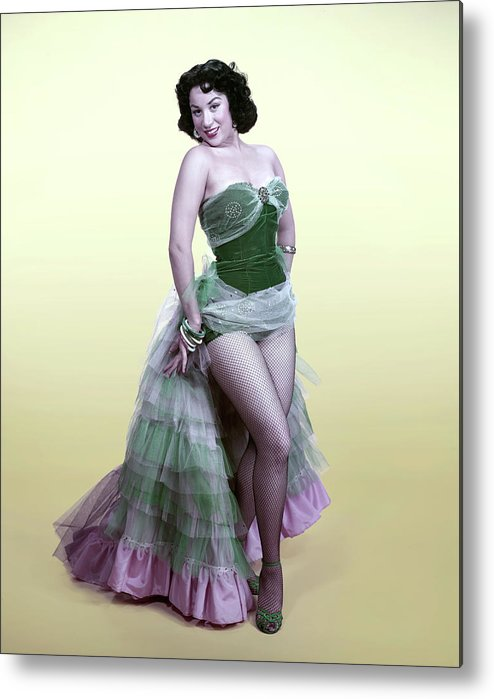 Hair Type Metal Print featuring the photograph The Lady In The Spanish Dress by Tom Kelley Archive