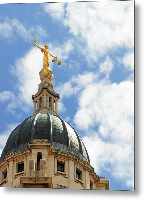 Statue Metal Print featuring the photograph The Old Bailey, Central Criminal Court by Peter Dazeley
