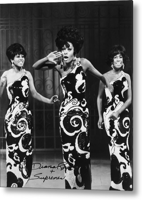 Singer Metal Print featuring the photograph The Supremes by Archive Photos