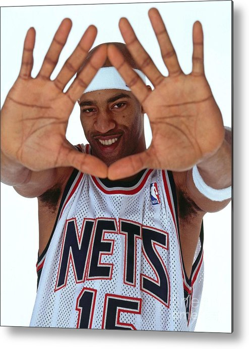 Nba Pro Basketball Metal Print featuring the photograph Vince Carter Studio Portrait by Nathaniel S. Butler