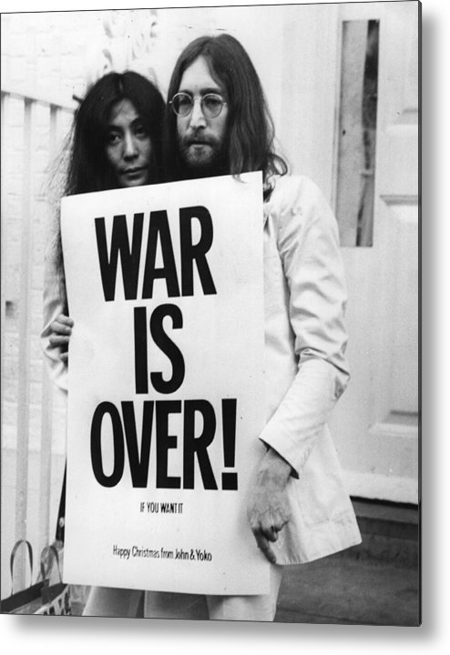 Rock Music Metal Print featuring the photograph War Is Over by Frank Barratt