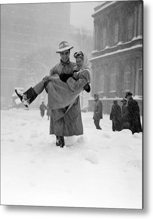 Dependency Metal Print featuring the photograph Winter In New York by New York Daily News Archive