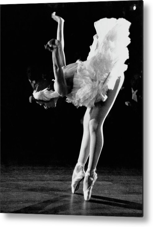 Yvette Chauviré Metal Print featuring the photograph Yvette Chauvire by Erich Auerbach