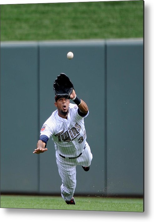 American League Baseball Metal Print featuring the photograph Aaron Hicks by Hannah Foslien