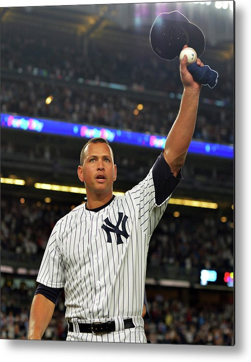 Crowd Metal Print featuring the photograph Alex Rodriguez by Drew Hallowell