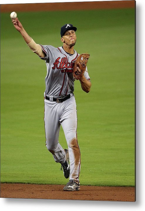 People Metal Print featuring the photograph Andrelton Simmons by Mike Ehrmann