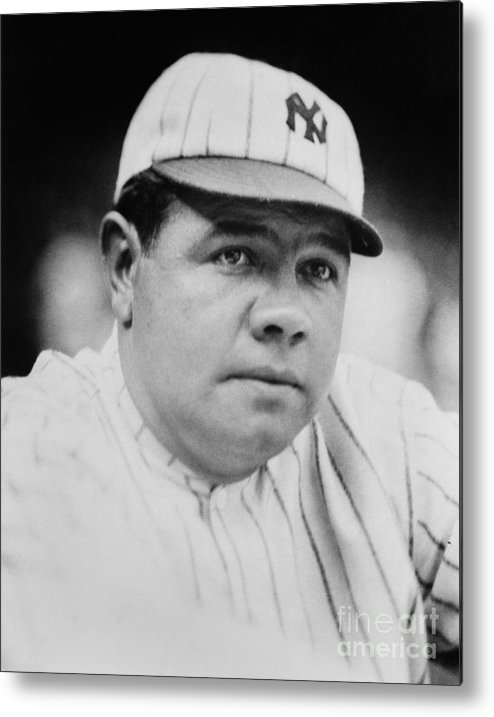 People Metal Print featuring the photograph Babe Ruth by Mlb Photos