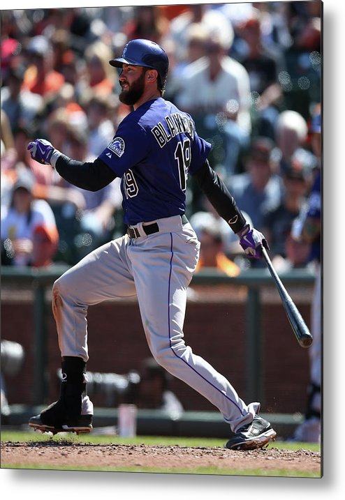 San Francisco Metal Print featuring the photograph Charlie Blackmon by Brad Mangin