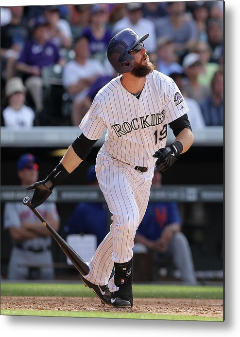 National League Baseball Metal Print featuring the photograph Charlie Blackmon by Doug Pensinger