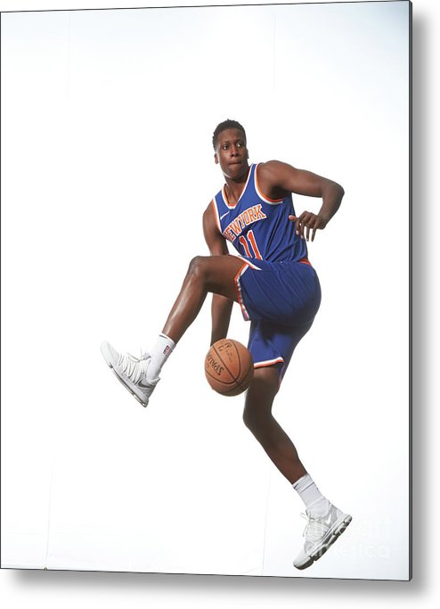 Nba Pro Basketball Metal Print featuring the photograph Frank Ntilikina by Nathaniel S. Butler