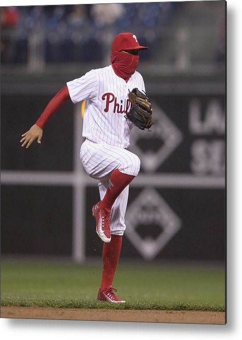 People Metal Print featuring the photograph Freddy Galvis by Mitchell Leff