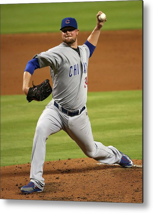 People Metal Print featuring the photograph Jon Lester by Mike Ehrmann