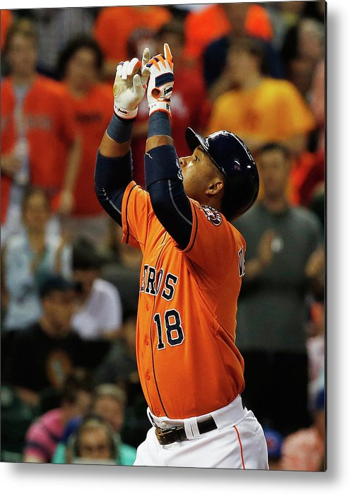 People Metal Print featuring the photograph Luis Valbuena by Scott Halleran