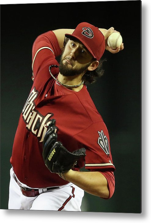 Mike Bolsinger Metal Print featuring the photograph Mike Bolsinger by Christian Petersen