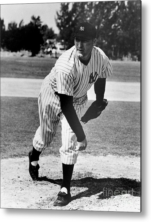 American League Baseball Metal Print featuring the photograph Red Ruffing by National Baseball Hall Of Fame Library