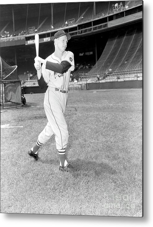 Red Schoendienst Metal Print featuring the photograph Red Schoendienst by Kidwiler Collection