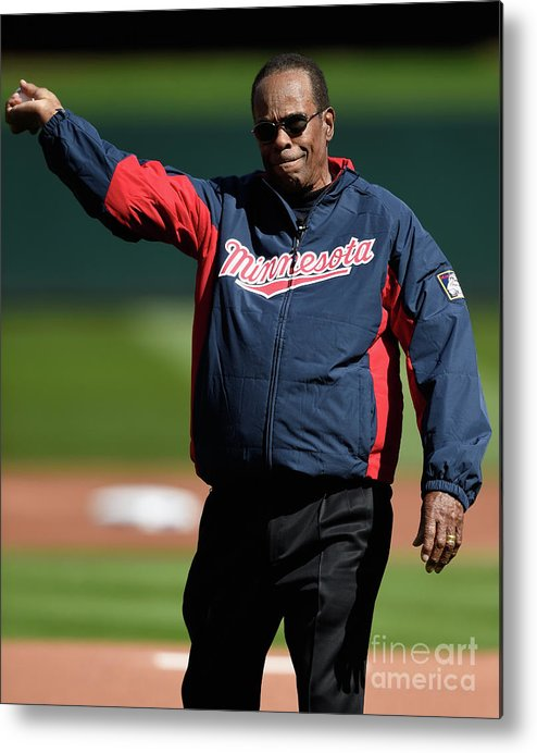 Three Quarter Length Metal Print featuring the photograph Rod Carew by Hannah Foslien