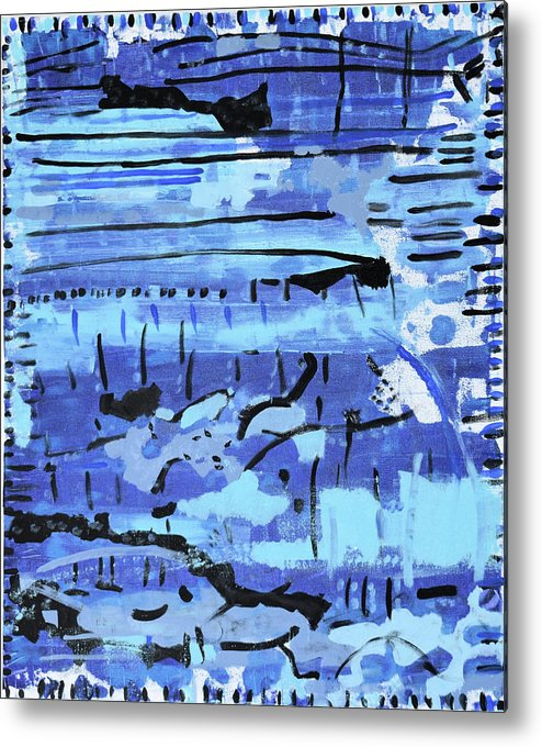 Colorado Metal Print featuring the painting Something Blue by Pam Roth O'Mara