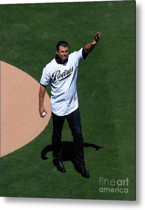 Crowd Metal Print featuring the photograph Trevor Hoffman by Denis Poroy