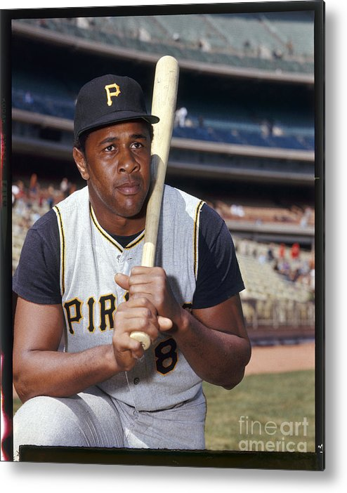 Sports Bat Metal Print featuring the photograph Willie Stargell by Louis Requena