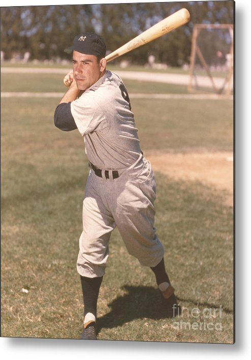 American League Baseball Metal Print featuring the photograph Yogi Berra by Kidwiler Collection