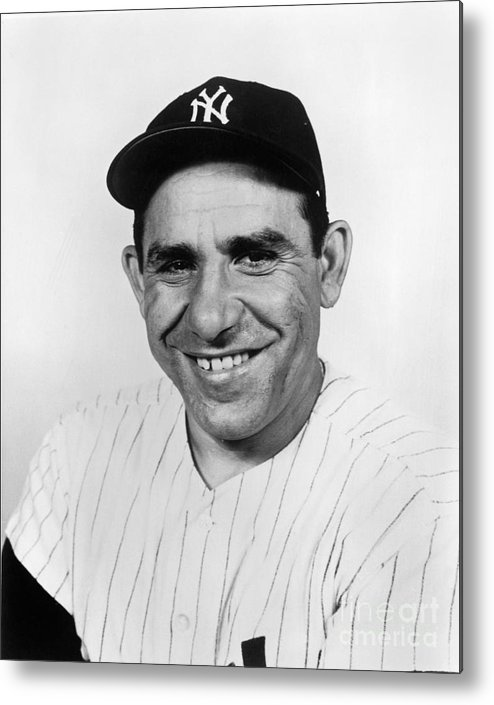 People Metal Print featuring the photograph Yogi Berra by National Baseball Hall Of Fame Library