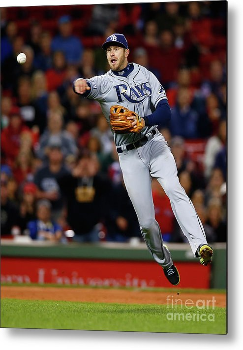 American League Baseball Metal Print featuring the photograph Evan Longoria by Jared Wickerham