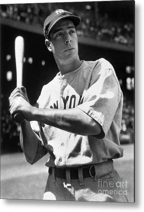 American League Baseball Metal Print featuring the photograph Joe Dimaggio by National Baseball Hall Of Fame Library