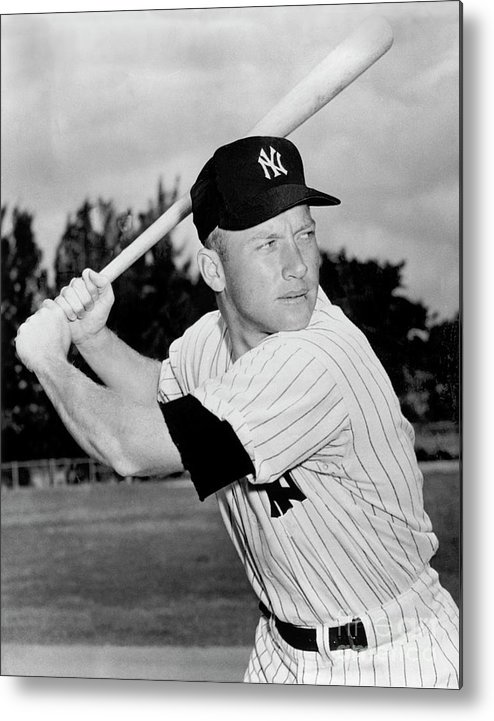 American League Baseball Metal Print featuring the photograph Mickey Mantle by National Baseball Hall Of Fame Library