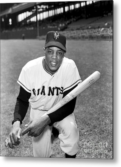 People Metal Print featuring the photograph Willie Mays by Kidwiler Collection