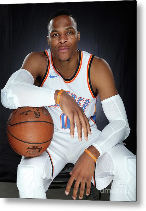 Media Day Metal Print featuring the photograph Russell Westbrook by Layne Murdoch