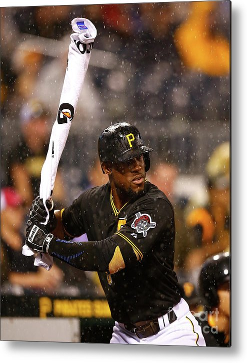 On-deck Circle Metal Print featuring the photograph Starling Marte by Jared Wickerham