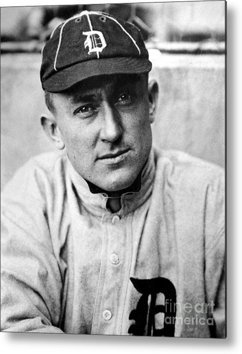 National League Baseball Metal Print featuring the photograph Ty Cobb by National Baseball Hall Of Fame Library