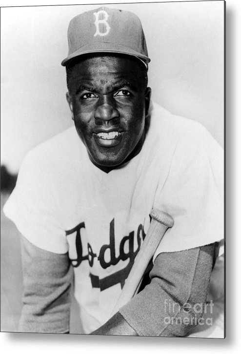 People Metal Print featuring the photograph Jackie Robinson by National Baseball Hall Of Fame Library