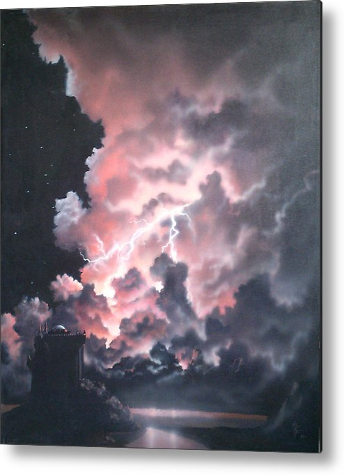 Castle Metal Print featuring the painting Untitled 6 by Philip Fleischer
