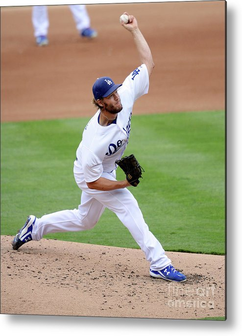People Metal Print featuring the photograph Clayton Kershaw by Kevork Djansezian