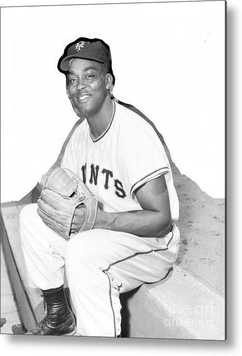 People Metal Print featuring the photograph Monte Irvin by Kidwiler Collection