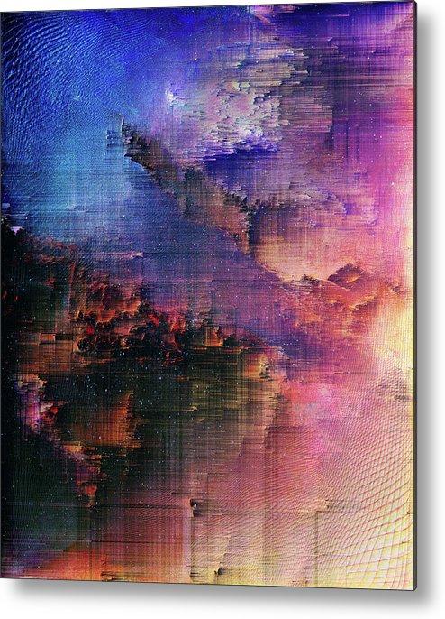 Metal Print featuring the digital art A night of splintering colour by Jenny Filipetti