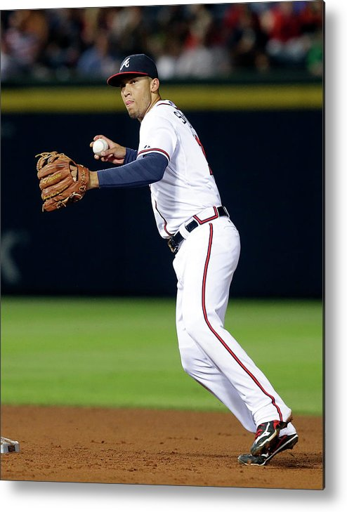 Atlanta Metal Print featuring the photograph Andrelton Simmons by Butch Dill