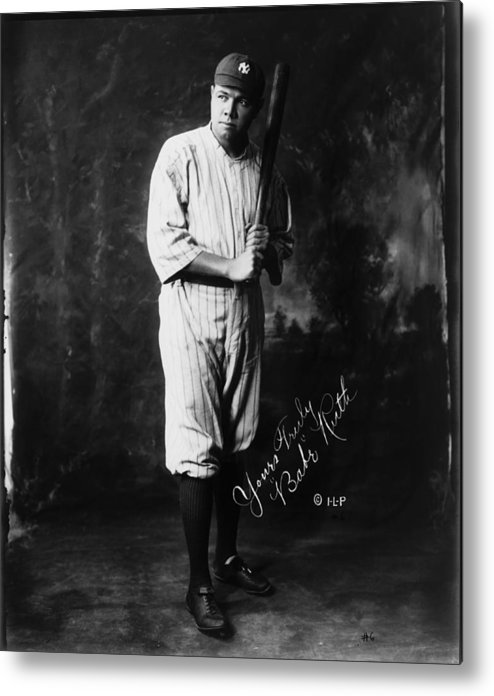 People Metal Print featuring the photograph Babe Ruth by Mpi