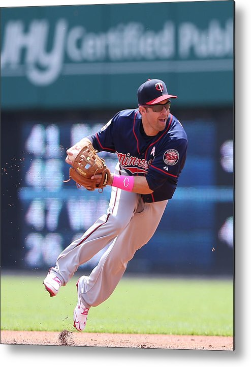 Second Inning Metal Print featuring the photograph Brian Dozier by Leon Halip