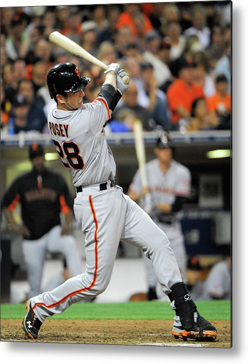 California Metal Print featuring the photograph Buster Posey by Denis Poroy
